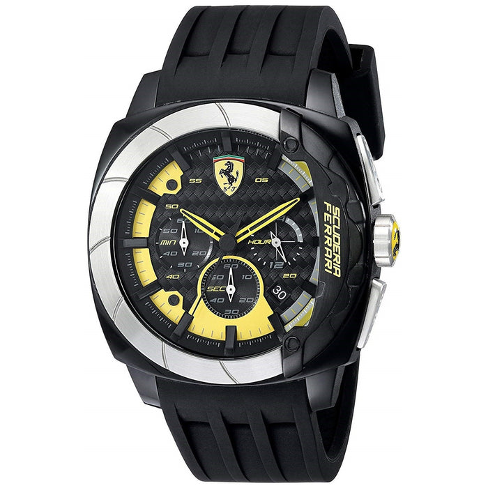 Ferrari Men's 830206 Scuderia Aerodinamico Chronograph Black Silicone Watch