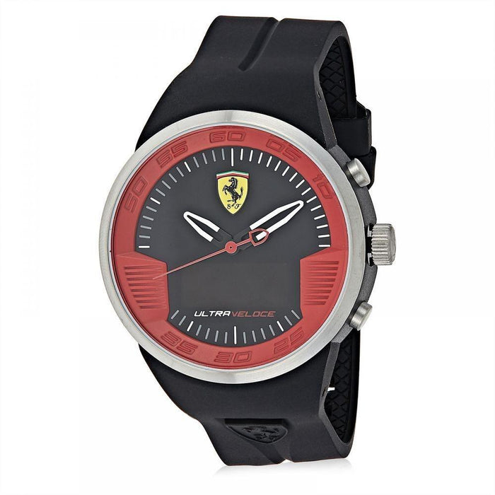 Ferrari Men's 830373 Scuderia Ultra Veloce Black Silicone Watch