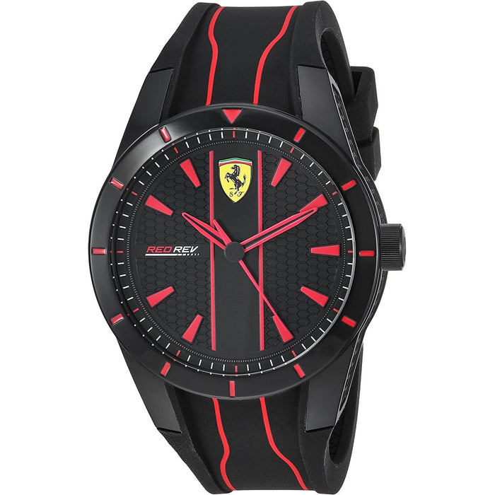 Ferrari Men's 830481 Red Rev Black Silicone Watch
