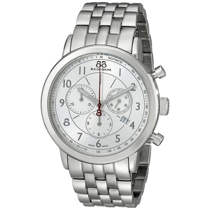 88 Rue Du Rhone Men's 87WA120044 Double 8 Chronograph Stainless Steel Watch