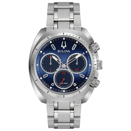 Bulova Men's 96A185 Curv Chronograph Stainless Steel Watch