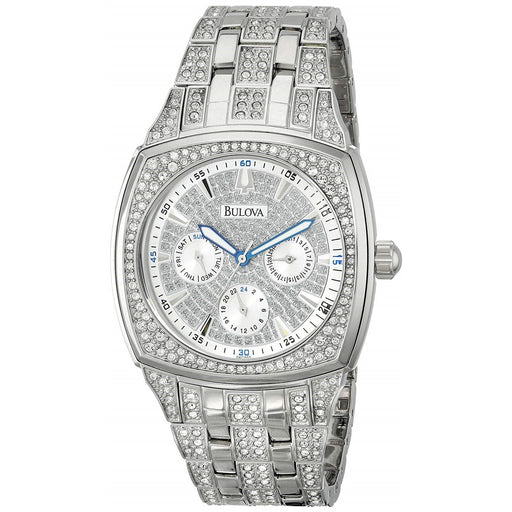 Bulova Men's 96C002 Chronograph Crystal Stainless Steel Watch