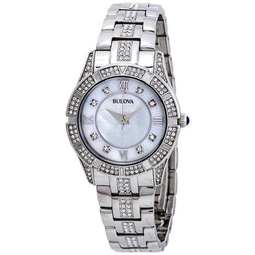 Bulova Women's 96L116 Crystal Stainless Steel with Sets of Crystal Watch