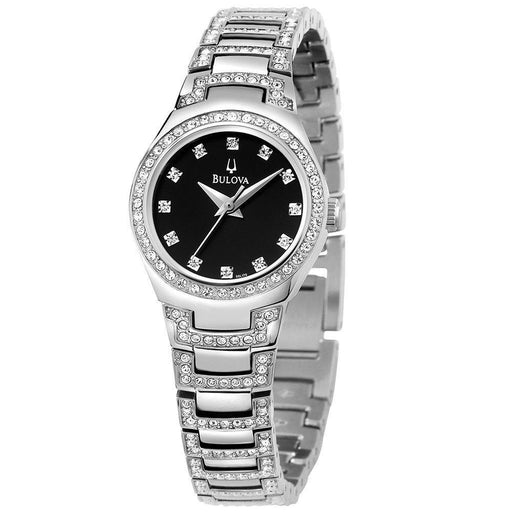 Bulova Women's 96L170 Crystal Stainless Steel with Sets of Crystal Watch
