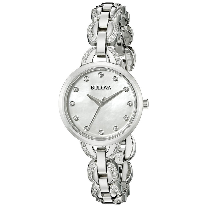 Bulova Women's 96L203 Crystal Stainless Steel Watch