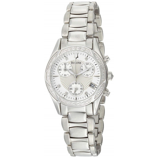 Bulova Women's 96R134 Classic Chronograph Diamond Stainless Steel Watch