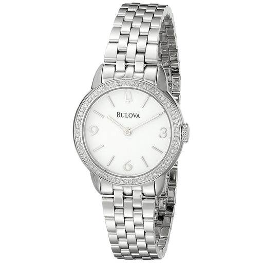 Bulova Women's 96R181 Classic Diamond Stainless Steel Watch
