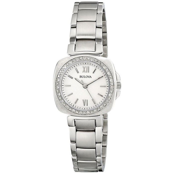 Bulova Women's 96R200 Diamond Stainless Steel Watch