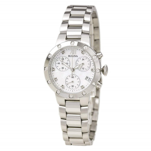 Bulova Women's 96R202 Maiden Lane Crystal, Chronograph Stainless Steel Watch