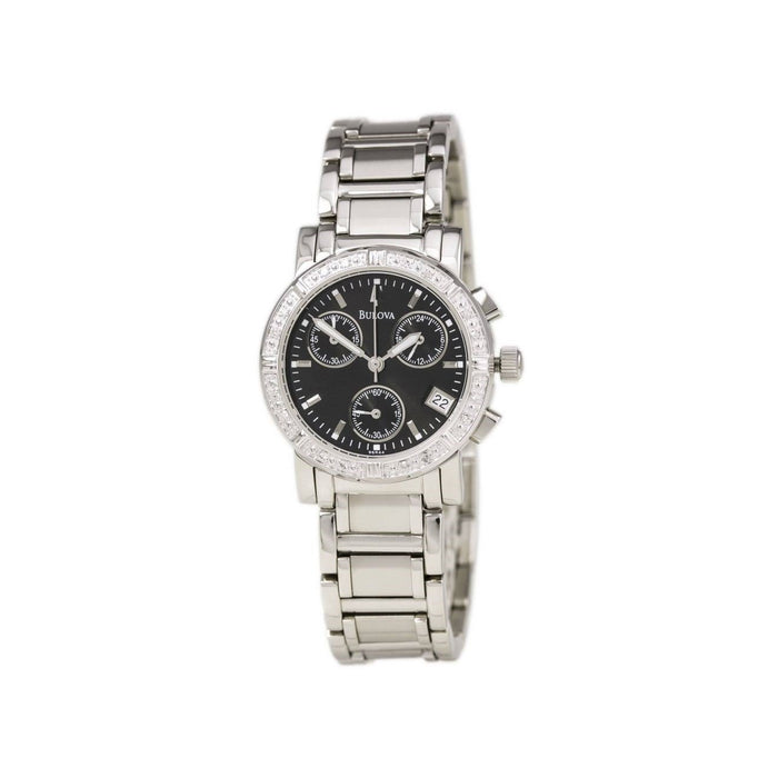 Bulova Women's 96R44 Diamond Chronograph Stainless Steel Watch