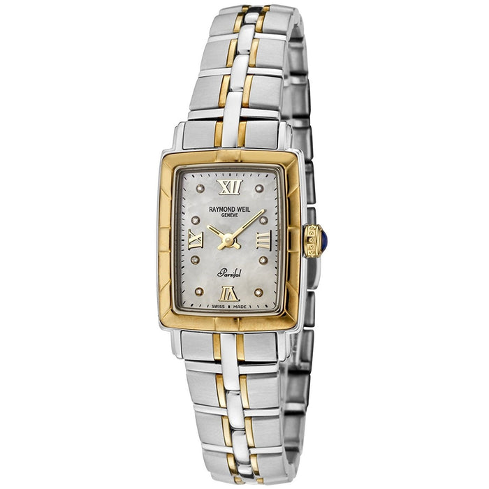 Raymond Weil Women's 9740-STG-00995 Parsifal 18kt Yellow Gold Two-Tone Stainless Steel Watch