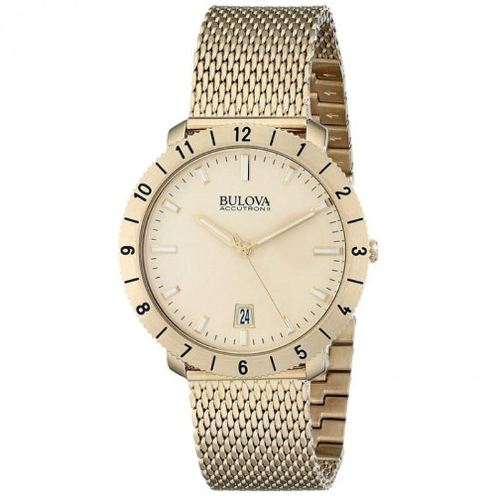 Bulova Men's 97B129 Moonview Gold-Tone Stainless Steel Watch