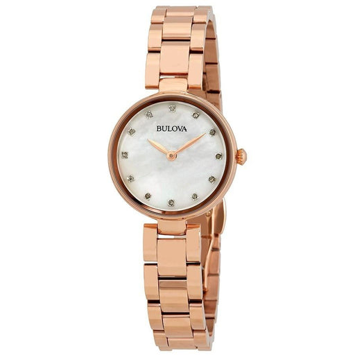 Bulova Women's 97P111 Diamonds Collection Diamond Rose-Tone Stainless Steel Watch
