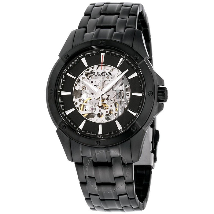 Bulova Men's 98A147 Automatic Skeleton Black Stainless Steel Watch