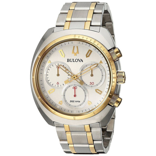 Bulova Men's 98A157 Curv Chronograph Two-Tone Stainless Steel Watch