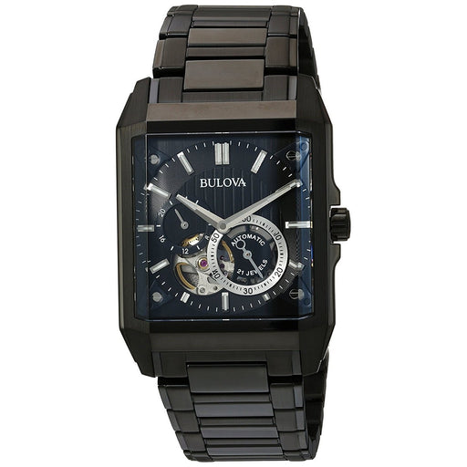 Bulova Men's 98A180 Classic Automatic Black Stainless Steel Watch