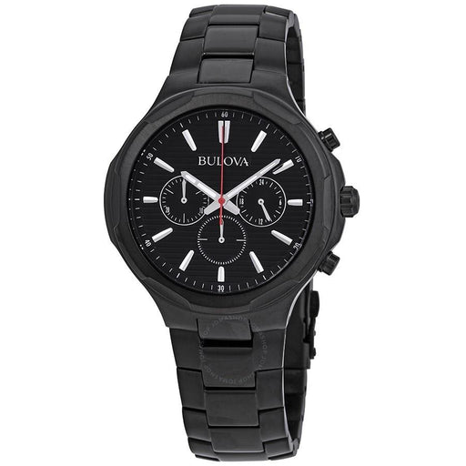 Bulova Men's 98A189 Classic Chronograph Black Stainless Steel Watch