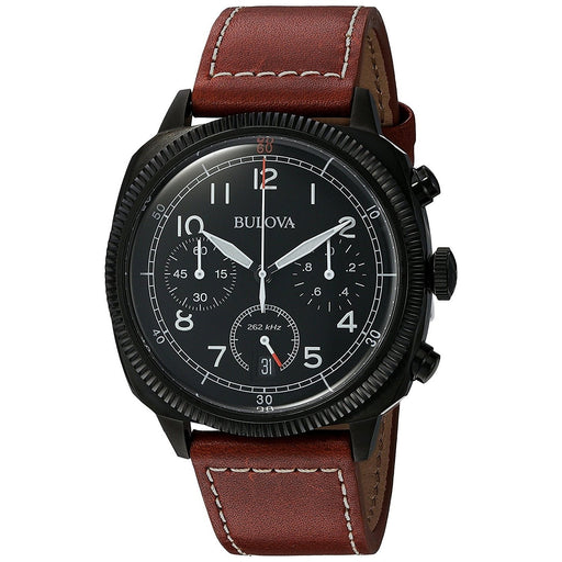 Bulova Men's 98B245 Classic Chronograph Brown Leather Watch