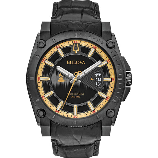 Bulova Men's 98B293 Grammy Edition Black Leather Watch