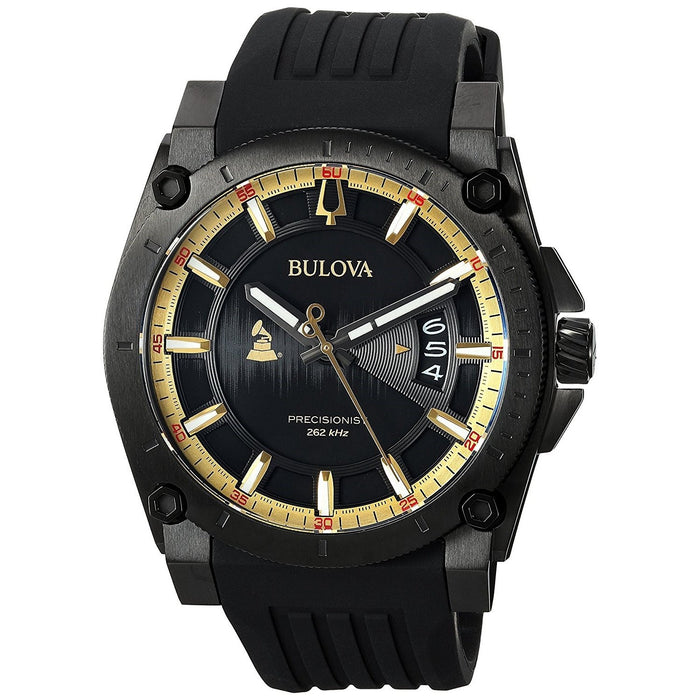 Bulova Men's 98B294 Grammy Edition Black Rubber Watch