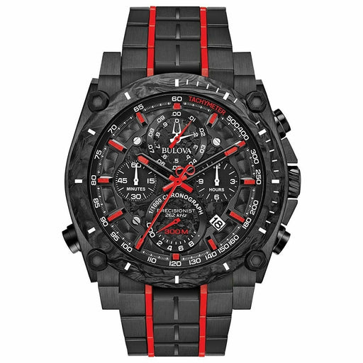 Bulova Men's 98B313 Precisionist Chronograph Black Stainless Steel Watch