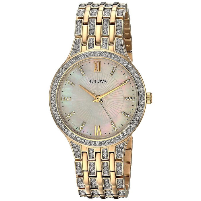 Bulova Women's 98L234 Crystal Crystal Gold-Tone Stainless Steel Watch