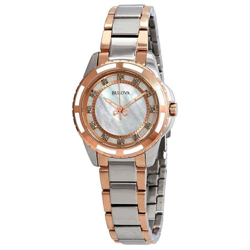 Bulova Women's 98P134 Diamond Two-Tone Stainless Steel Watch
