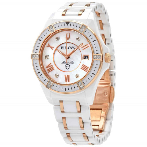 Bulova Women's 98R241 Marine Star Two-Tone Stainless Steel and Ceramic Watch