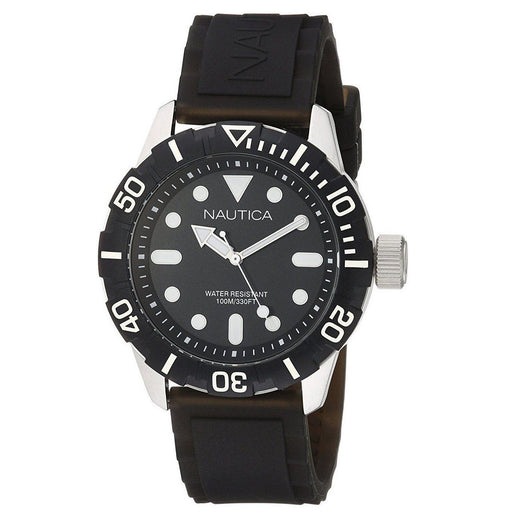 Nautica Men's A09600G NSR Black Silicone Watch