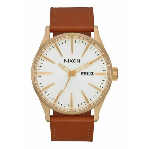 Nixon Men's A105-2621 Sentry Brown Leather Watch