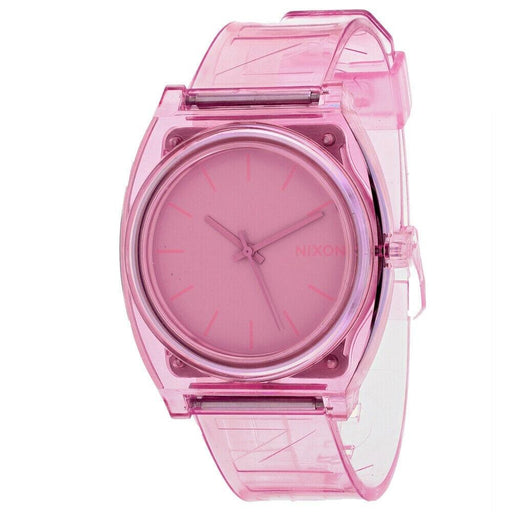Nixon Women's A119-3146 Time Teller Pink Silicone Watch
