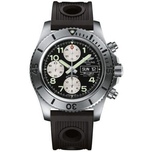 Breitling Men's A13341C3-BD19RD Superocean Steelfish Chronograph Automatic Black Rubber Watch