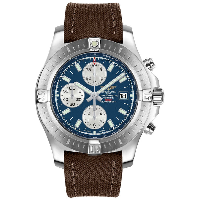 Breitling Men's A1338811-C914-108W Colt Chronograph Brown Canvas Watch