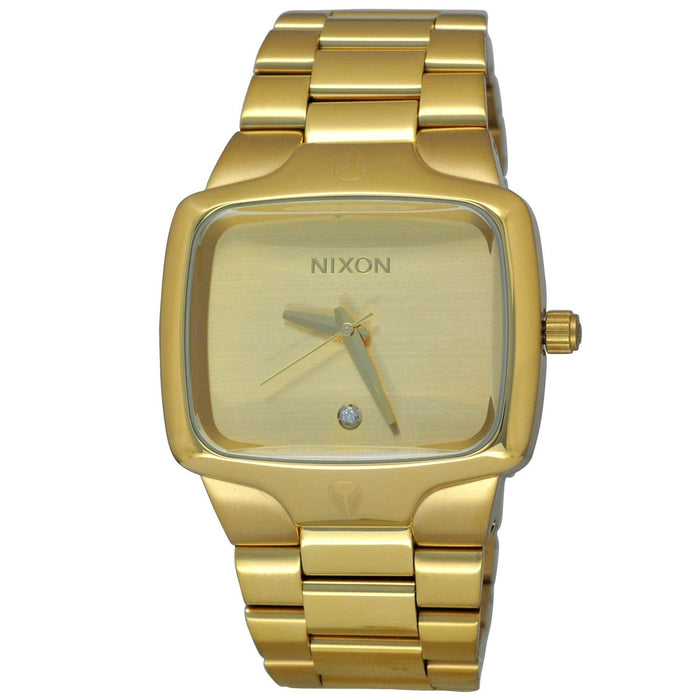 Nixon Unisex A140-509 Player Crystal Gold-Tone Stainless Steel Watch