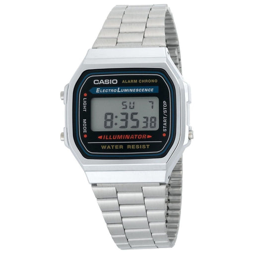 Casio Men's A168W-1 Vintage Illuminator Digital Stainless Steel Watch