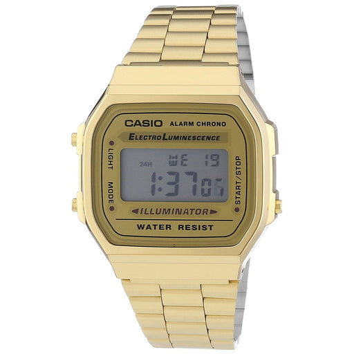 Casio Men's A168WG-9 Vintage Digital Illuminator Gold-Tone Stainless Steel Watch