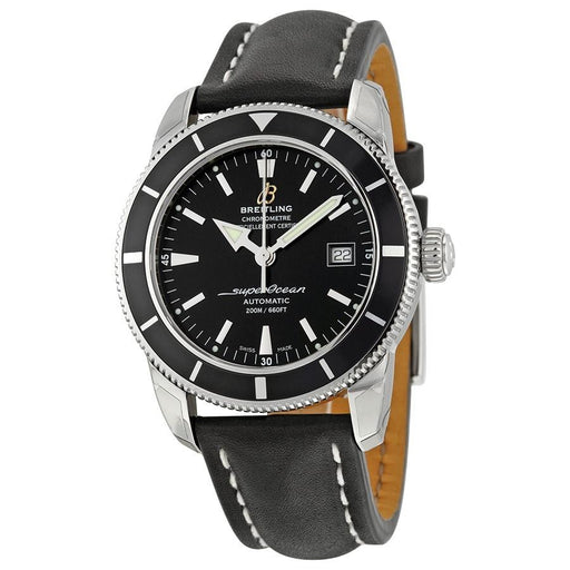 Breitling Men's A1732124-BA61-435X Superocean Heritage 42 Automatic Black Leather Watch