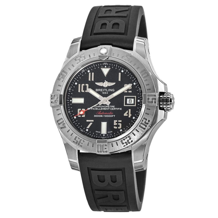 Breitling Men's A1733110-BC31-153S Avenger II Seawolf Black Rubber Diver Pro III Watch