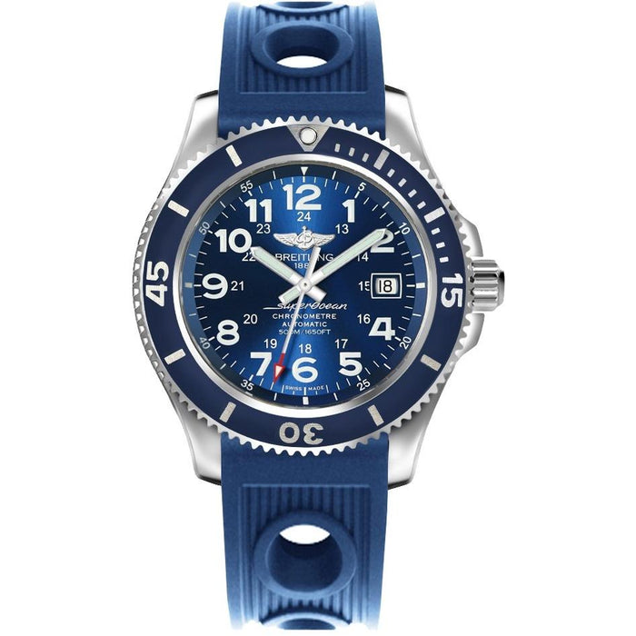Breitling Men's A17365D1-C915-203S Superocean II Blue Rubber Watch