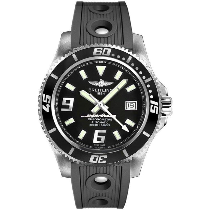 Breitling Men's A1739102-BA77-200S Superocean 44 Black Rubber Watch