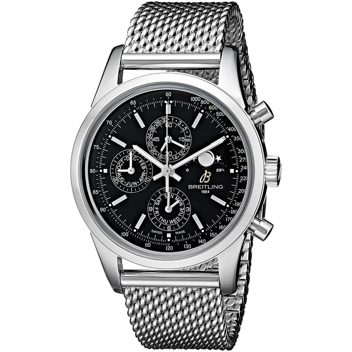 Breitling Men's A1931012-BB68 Transocean 1461 Automatic Chronograph Stainless Steel Watch