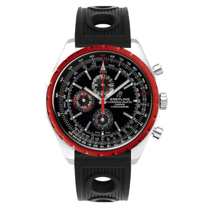 Breitling Men's A1936003-BA94RU Navitimer Chrono-Matic 1461 Limited Chronograph Automatic Black Rubber Watch