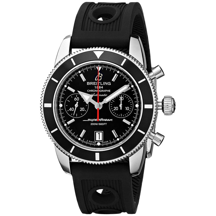 Breitling Men's A2337024-BB81RU Superocean Heritage Automatic Chronograph Black Rubber Watch