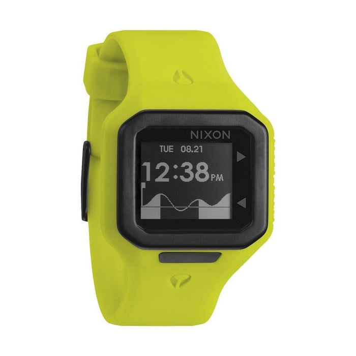Nixon Men's A316-1262 Supertide Yellow Silicone Watch