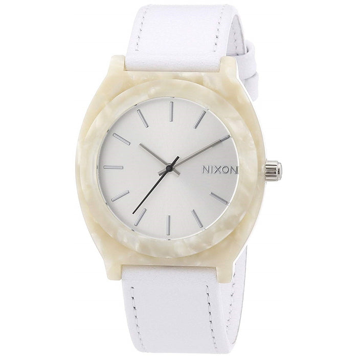 Nixon Unisex A328-1029 Time Teller Acetate Leather White Leather Watch