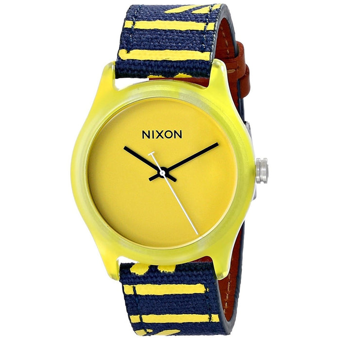 Nixon Women's A402-250 Mod Blue Nylon and Leather Watch