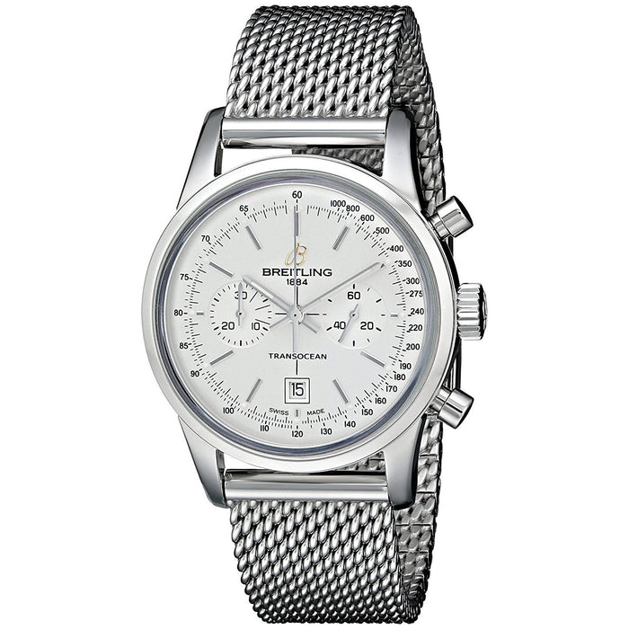 Breitling Men's A4131012-G757SS Transocean 38 Automatic Chronograph Stainless Steel Watch