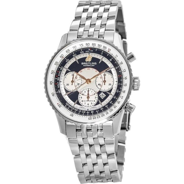 Breitling Men's A4137012-B986-444A Montbrillant 38 Chronograph Stainless Steel Watch