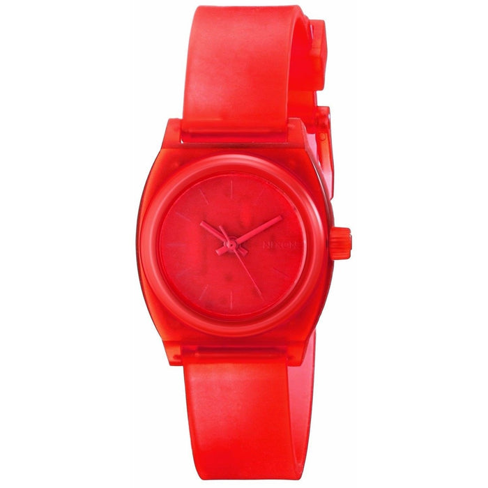 Nixon Women's A425-1784 Small Time Teller Red Polyurethane Watch
