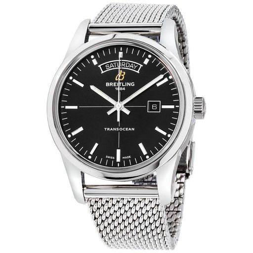 Breitling Men's A4531012-BB69-154A Transocean Day and Date Stainless Steel Watch